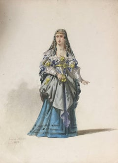 Woman in Theatrical Dress