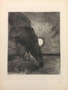 """Les Fleurs du Mal"" - Original Etching by Odilon Redon - 1923"