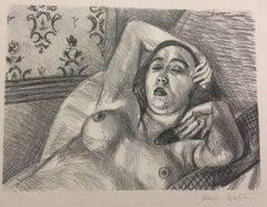 Le Repos du Modèle - Original Lithograph by Henri Matisse - 1922