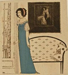 """Illustration for """"Les Robes de Paul Poiret racontées par Paul Iribe"""""""