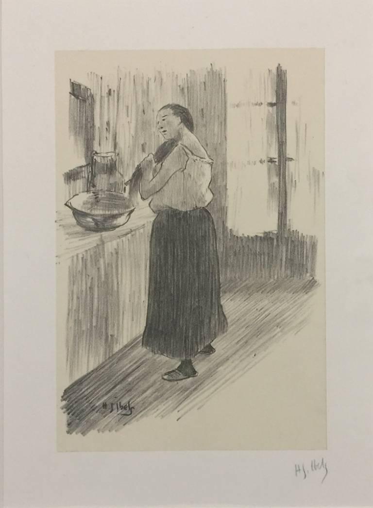 Femme à la toilette