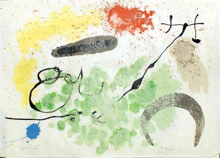 Joan Miró Abstract Print - Le Lézard aux Plumes d'Or - Original Lithograph by Joan Mirò - 1971