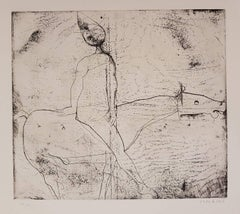 Gioco del Cavaliere (Game of the Knight) - Original Etching by M. Marino - 1969