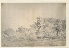 Turin Countryside - Original Ink and Watercolor by Jan Pieter Verdussen - 1744