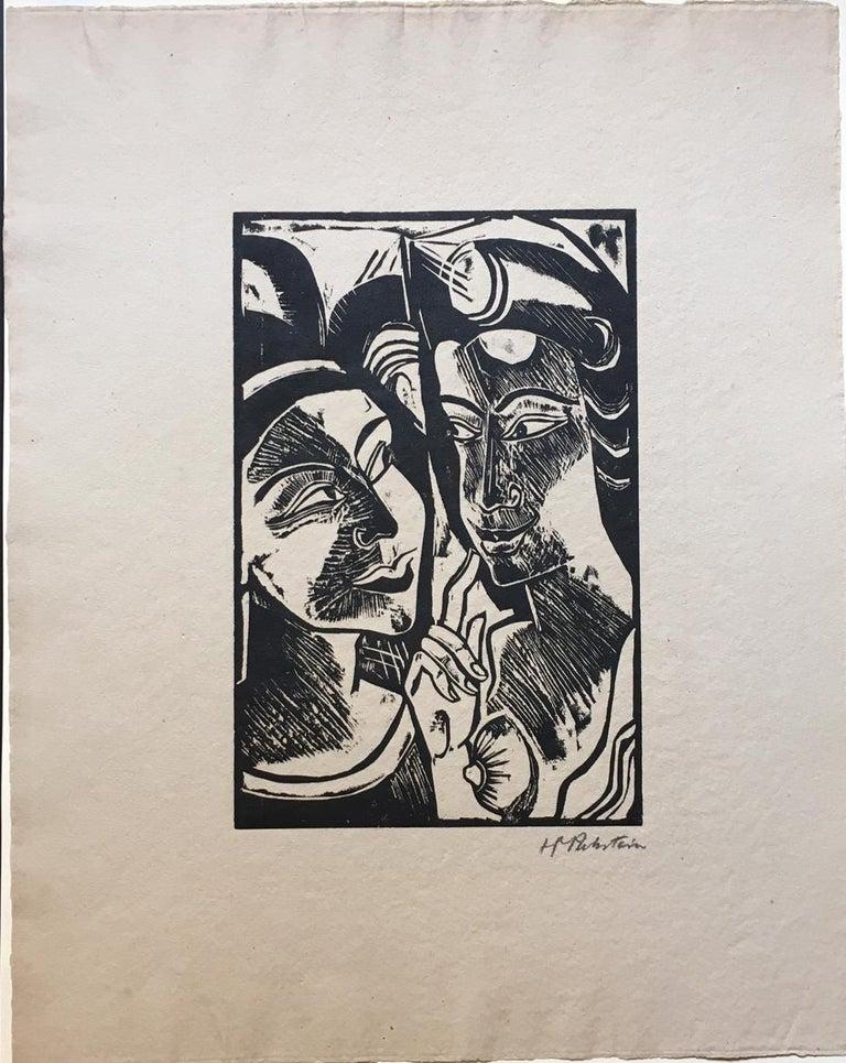 Hermann Max Pechstein Abstract Print - Zwiesprache