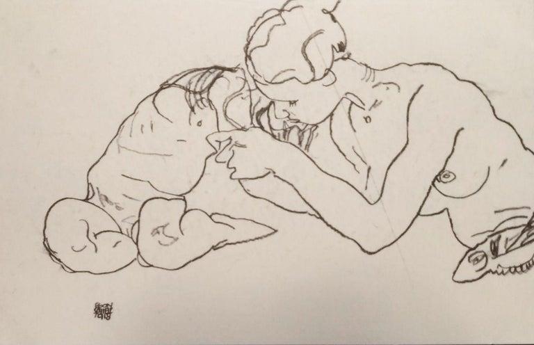 Zwei sich küssende Mädchen