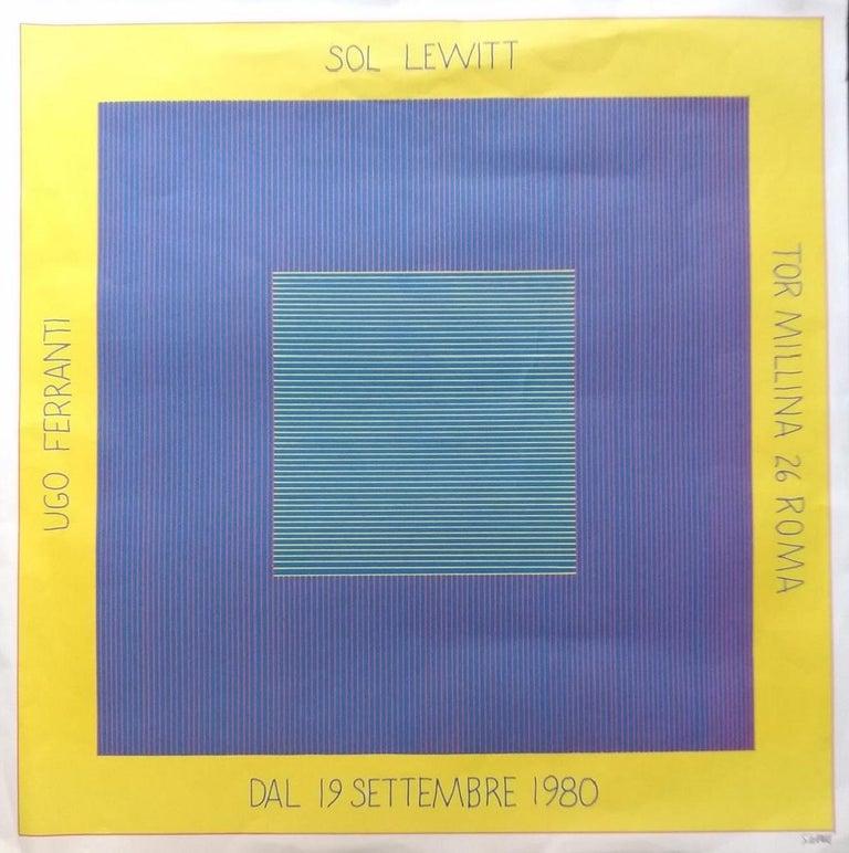 Sol Lewitt's Exhibition Poster