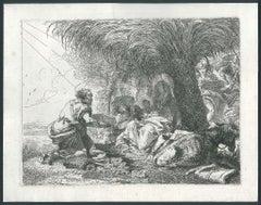 Giuseppe Adora il Bambino sotto una Palma