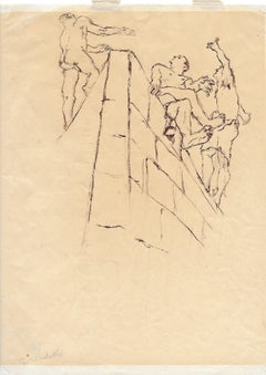 Orange Drawings and Watercolor Paintings