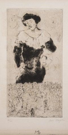 Bella - 1920s - Marc Chagall - Etching - Surrealist