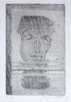 Le Buste - 1930s - Jacques Villon - Etching - Modern