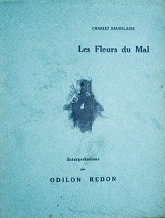 Les Fleurs du Mal, Interprétation par Odilon Redon - 1920s - Lithograph - Modern