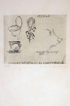 Rebus - 1960s - Marcel Duchamp - Etching - Contemporary