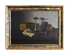 Still life with objects - 1970s - Oil on Canvas - Modern