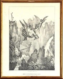 Arrival Of Pulcinella - 1836 - Gaetano Dura - Lithograph - Old Masters