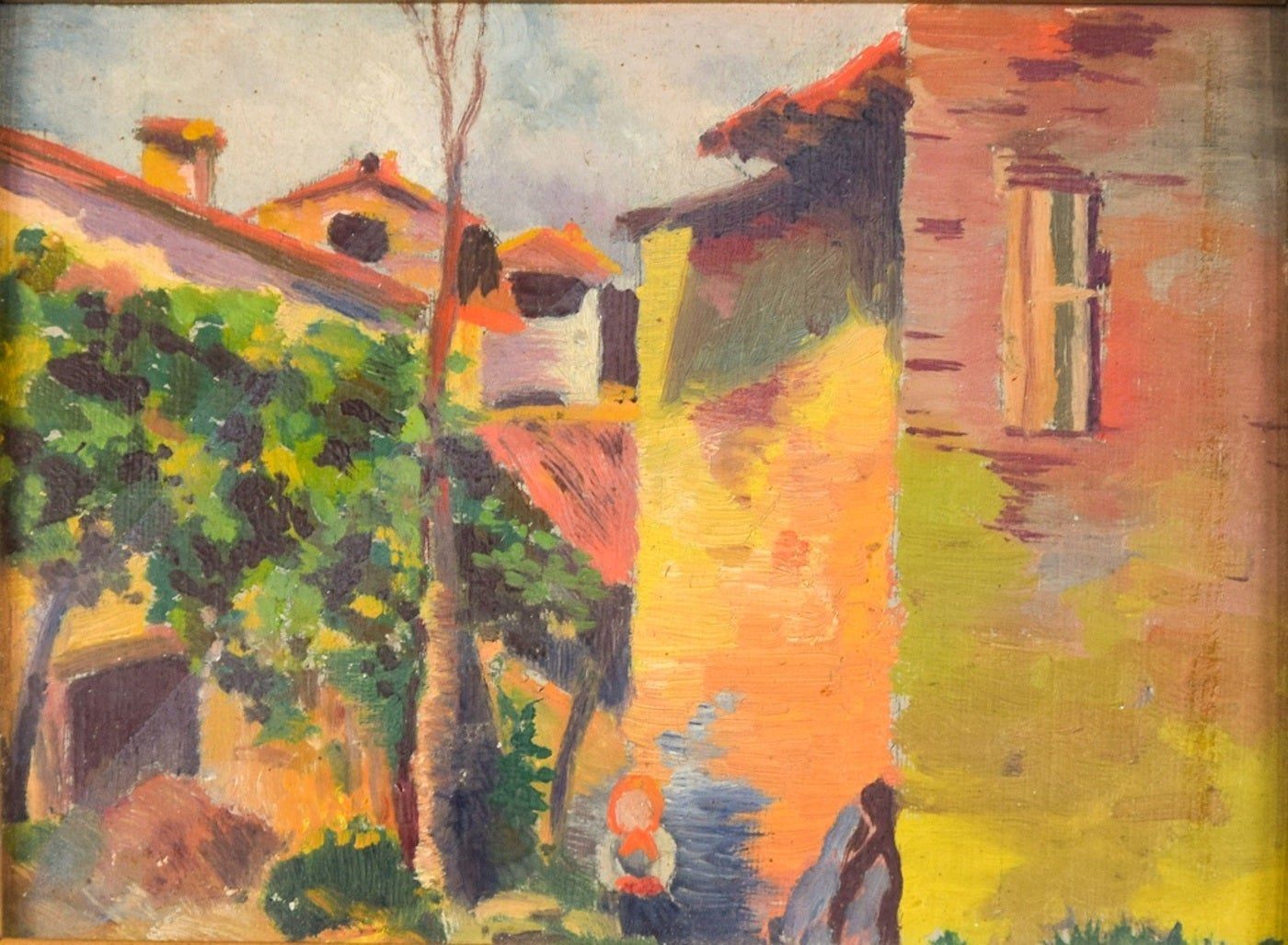 Landscape - Oil on Board by 20th Century Master - Mid 20th Century