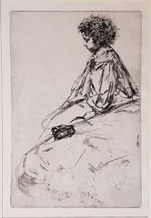 Bibi Lalouette - Original Etching by James Whistler - 1959