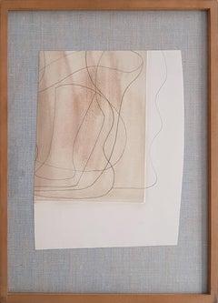 Off Brown Still Life - Original Pencil Drawing by Ben Nicholson - 1970