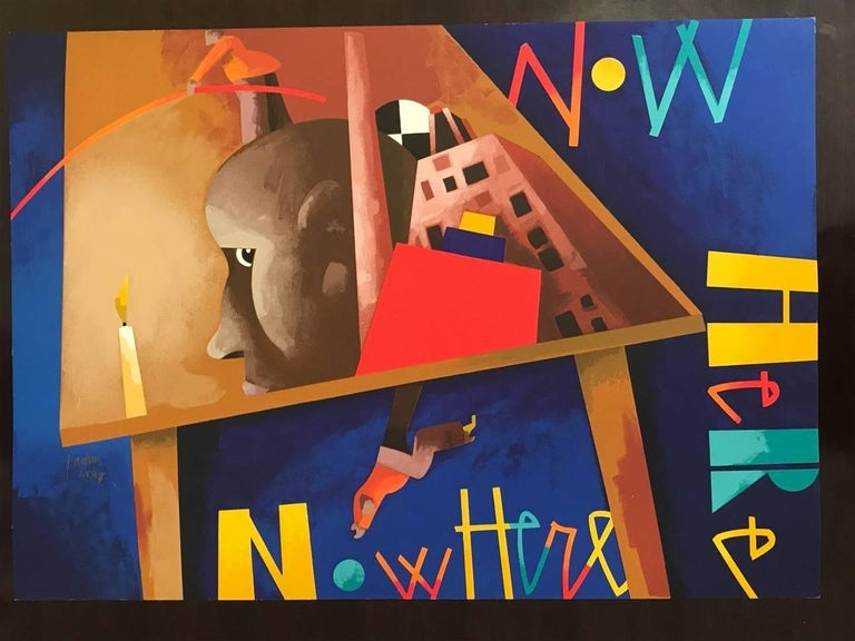 Now Here - Print by Emilio Tadini