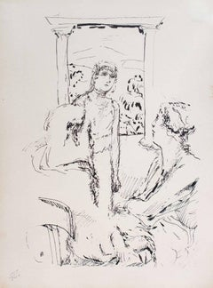 Family - Original Lithograph by Pierre Bonnard - 1930
