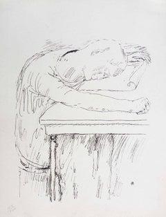 Tiredness - Original Lithograph by Pierre Bonnard - 1930