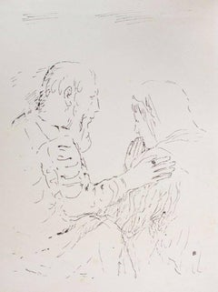 Prayer - Original Lithograph by Pierre Bonnard - 1930