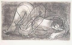 Nu - Original Etching by J. Fautrier - 1941