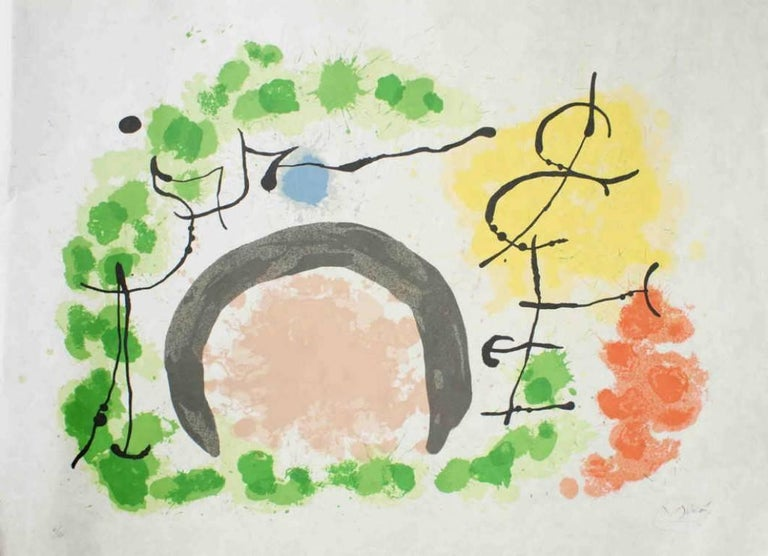 Joan Miró Abstract Print - Le Lézard aux Plumes d'Or
