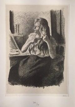 Femme se coiffant (Eugènie Bouin)