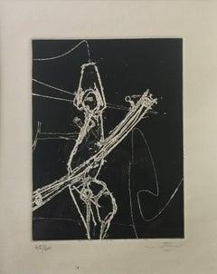 F.S.A.V. - Original Etching and Aquatint by Sebastian Matta - 1965