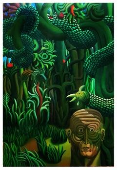 Adàn II - Original Acrylic on Canvas by Henry Bermudez - 1986