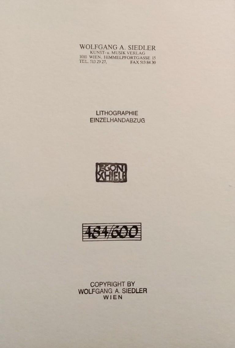 Edith Schiele mit Hund Lord - Modern Print by (after) Egon Schiele