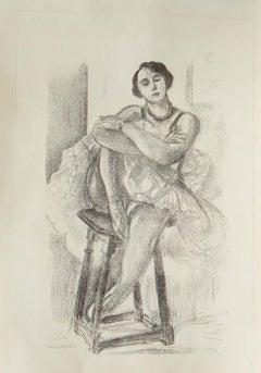 La Danseuse sur un Tabouret - 1920s - Henri Matisse - Lithograph - Modern