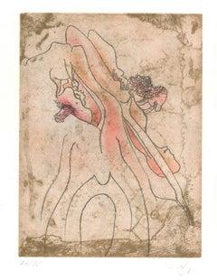 Untitled Plate 2 from Paroles Peintes Suite - 1970s - Sebastián Matta