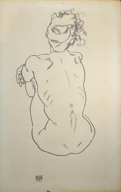 Weiblicher Rückenakt - 1920s - (After) Egon Schiele - Print - Modern