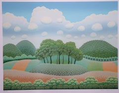 Trees Under The Clouds - 1990s - Ivan Rabuzin - Serigraph - Contemporary