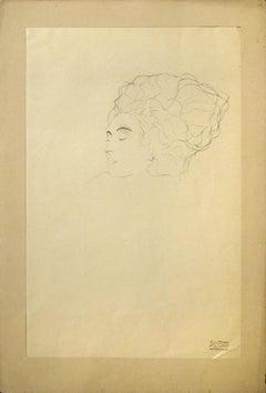 Head Study  - 1910s - Gustav Klimt - Lithograph - Modern Art