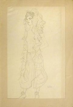 Figurine, Standing, with Lace Hood - 1910s - Gustav Klimt - Modern Art