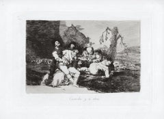 Curarlos y a Otra  - Original Etching by Francisco Goya - 1863