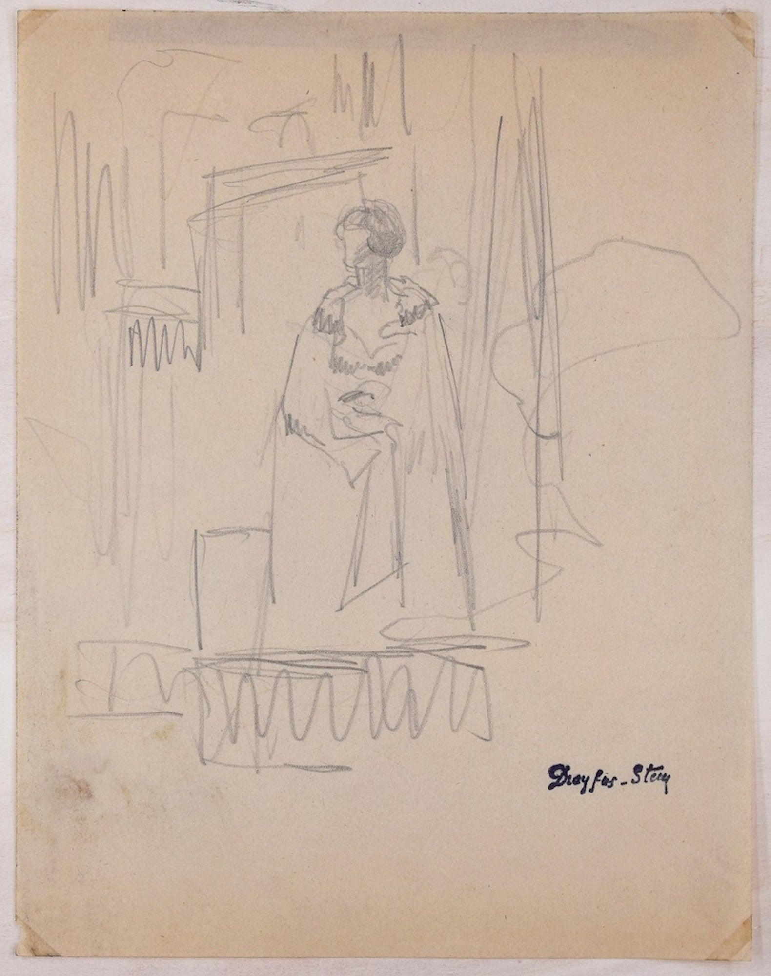 Jean dreyfus stern an actor original pencil drawing