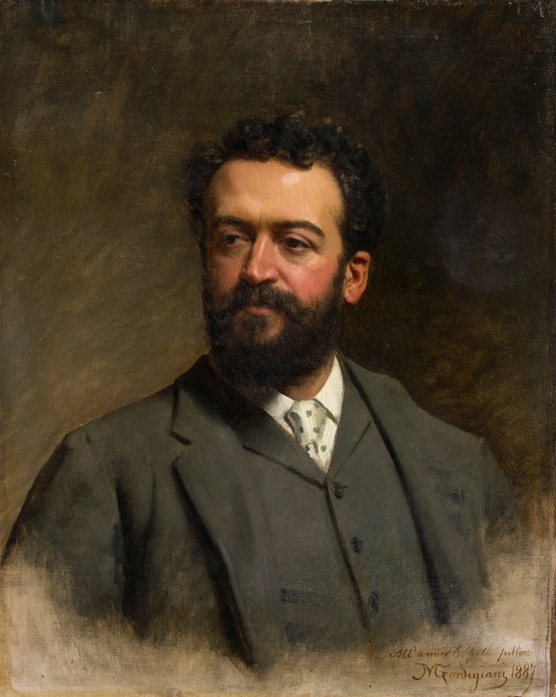 Portrait of E. Gelli - Oil on Canvas by M. Gordigiani - 1887