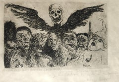 The Deadly Sins - Original Etching by James Ensor - 1904