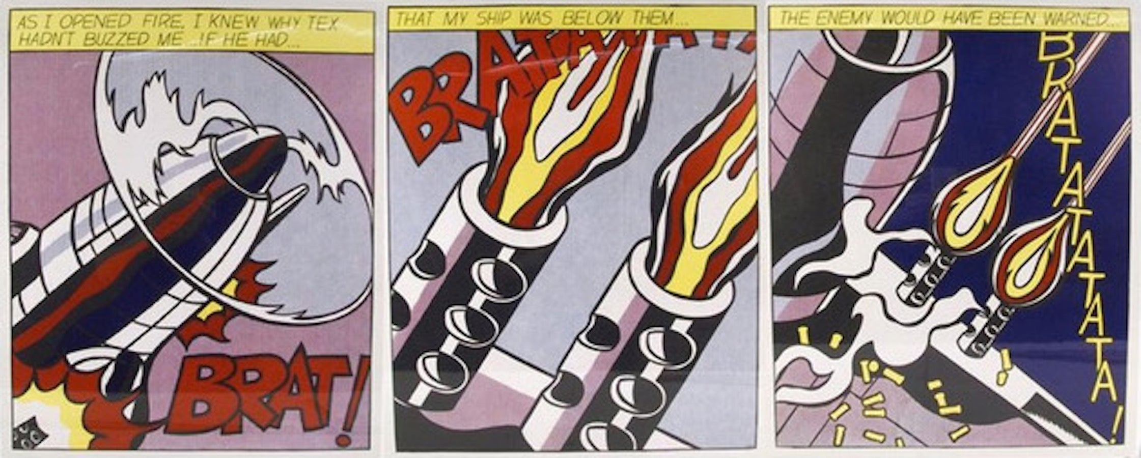 As I Opened Fire (Triptych) - Original Offset and Lithograph - 1998