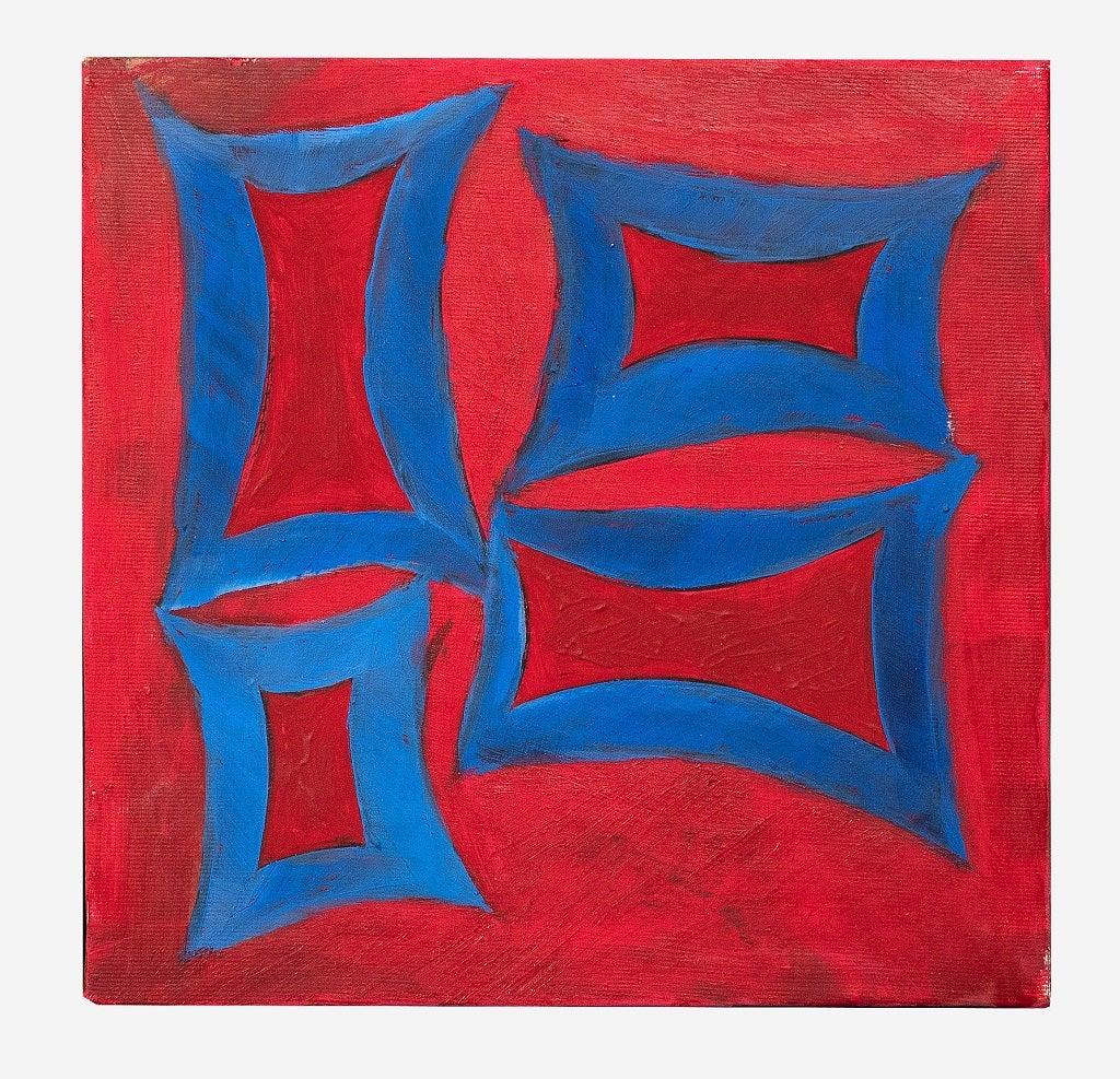 Red Minimalism - Original Oil paint by Giorgio Lo Fermo - 2020