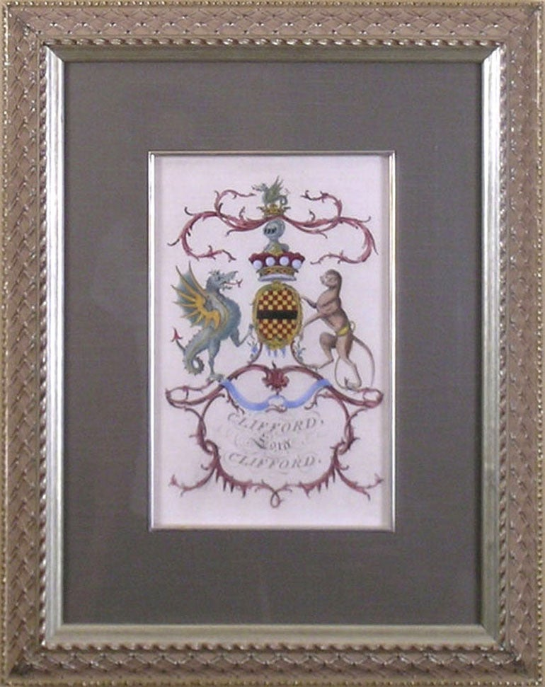 Sir William Segar Heraldry Crest Clifford At 1stdibs