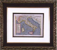 Italia mit Corsica Sardinia und Sicilla