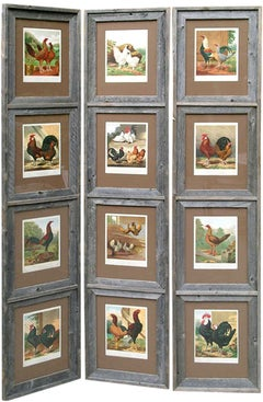 Screen:  12 Images of Chickens in Reclaimed Barnwood