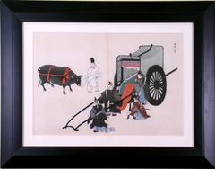 Oxcart with 5 Men and 1 Ox