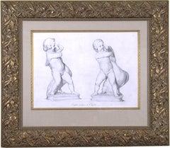 """""""Enfans antiques au Capitol.""""  (Putti with Swans)"""