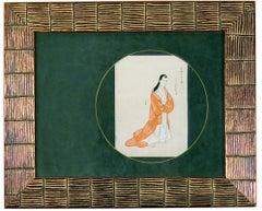 Kimono:  Woman in Orange